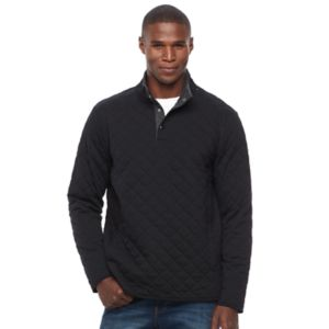 Men's Croft & Barrow® Classic-Fit Outdoor Quilted Mockneck Pullover